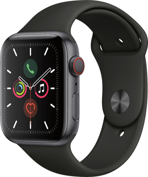Apple-Watch-Series-5-(GPS+Cellular)-44mm-Space-Gray-Aluminum-Case-with-Black-Sport-Band-Space-Gray-Aluminum