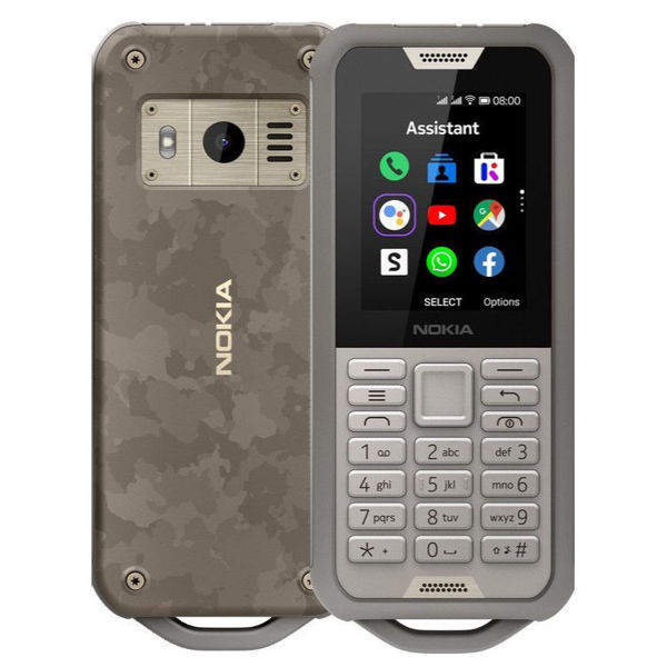 Nokia 800 Tough, 4GB, IP68 Rugged Cell Phone, 4G LTE (Sand)
